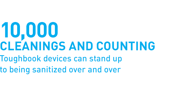10,000 cleaning and counting Toughbook devices can stand up to being sanitized over and over