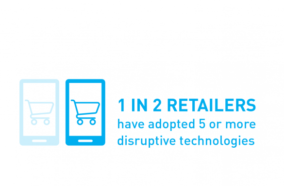 1 in 2 retailers have adopted 5 or more disruptive technologies