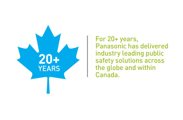 For 20+ years, Panasonic has delivered industry leading public safety solutions across the globe and within Canada.