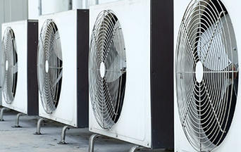 row of air conditioners