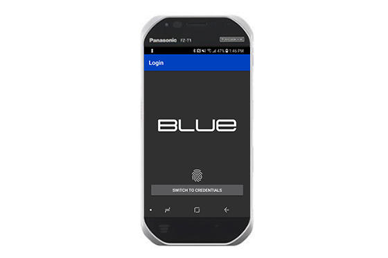 Blue - handheld version - login screen