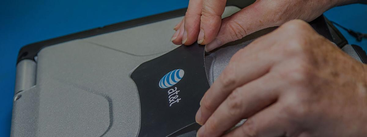 Adding logo to toughbook cover