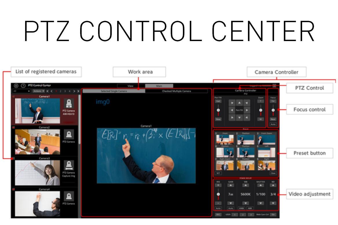 PTZ Control Center Software (Windows) | Panasonic North