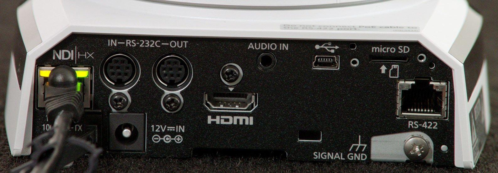 Aw Hn38h Hd Professional Ptz Camera With Ndi Hx Panasonic North Wiring Diagram Rear Input Outputs