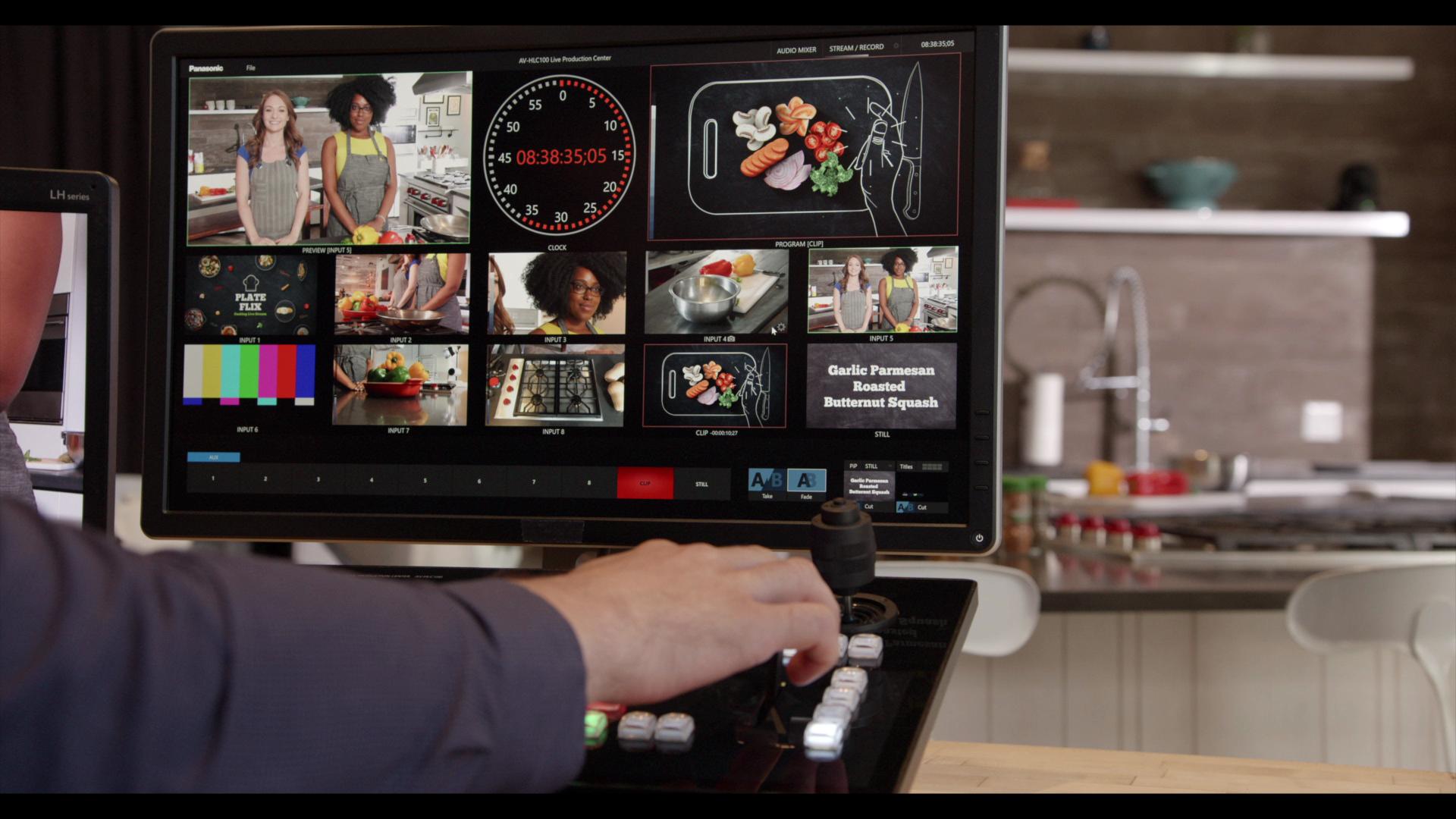 AV-HLC100 Switcher Streaming Titler T Handle Live Production NewBlue FX Titler Pro