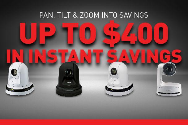 Panasonic remote ptz camera rebate deal promo best price cheap discount promotion savings