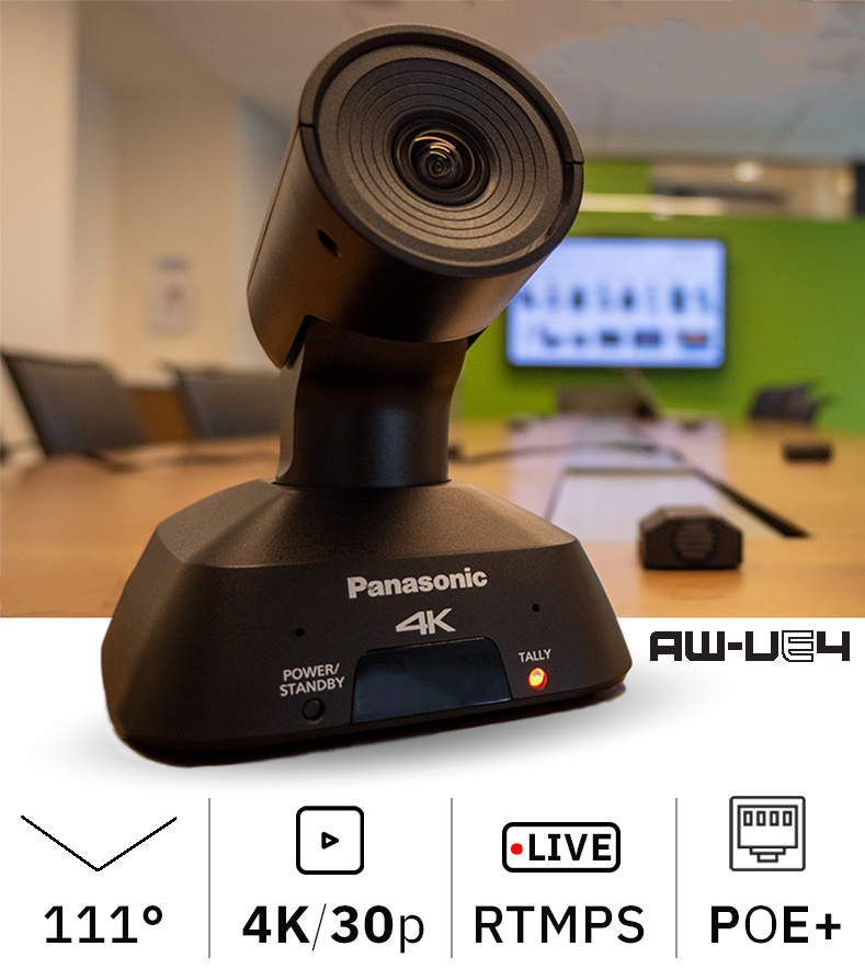 AW-UE4 Wide Angle 4K PTZ Camera with IP Streaming