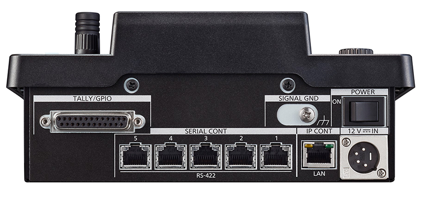 AW-RP60 rear inputs  outputs poe support ethernet