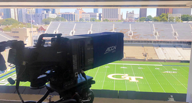 Georgia tech atheltic association college football AK-HC5000 broadcast streaming camera fiber optic AK-HC5000 live transmission