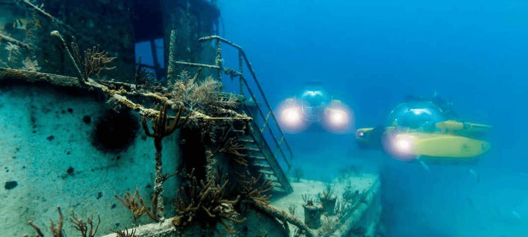 Triton Submarine below sea