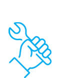 Wrench in hand icon
