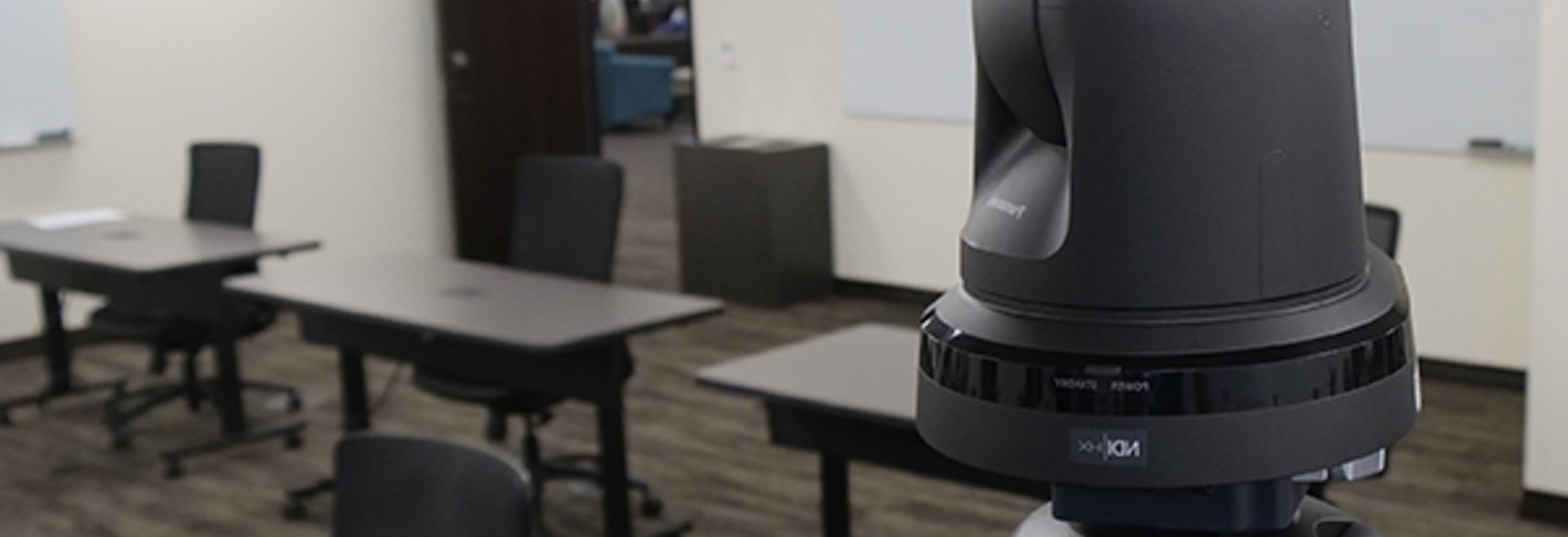 Panasonic AW-HE38 robotic camera for use with EduFlex hybrid video software for remote learning and distance classrooms