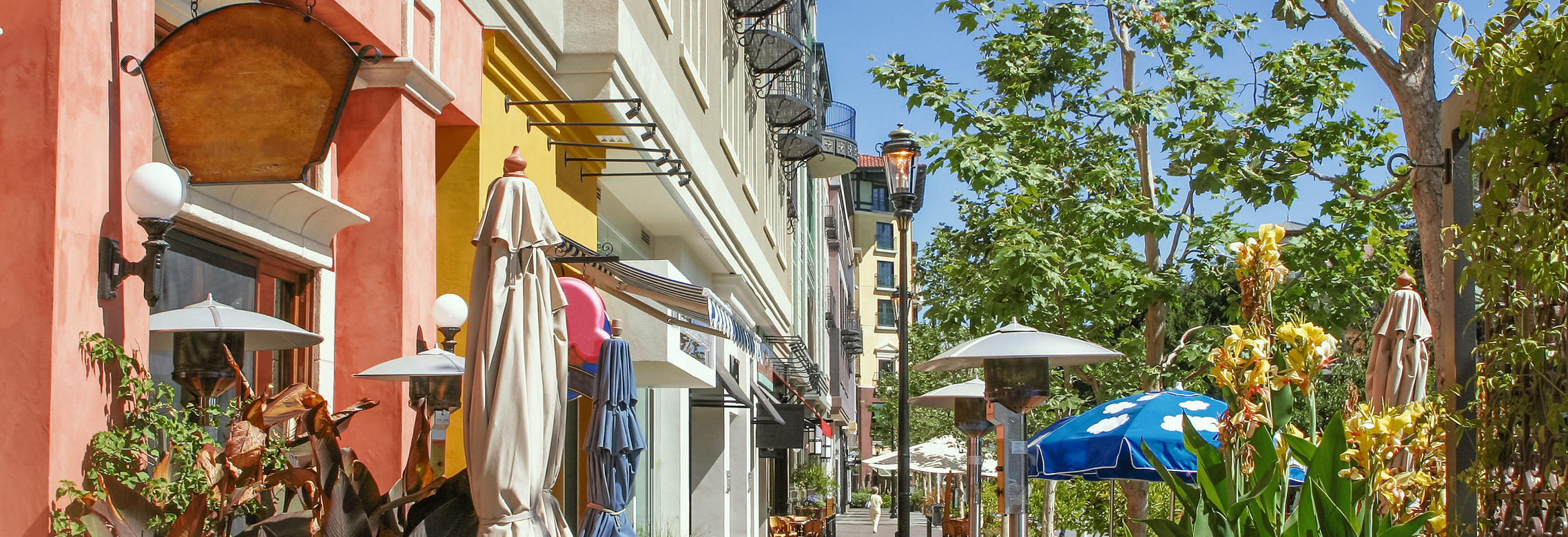 Scenery of the shopping street in San Jose