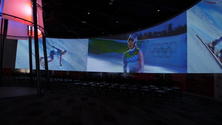 The immersive experience at the Olympic Training Center at Colorado Springs.