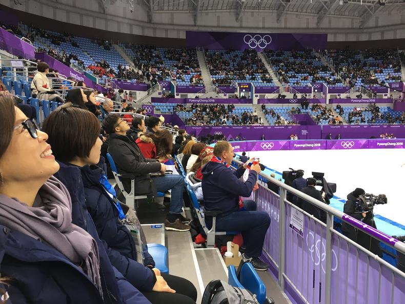 at the olympics
