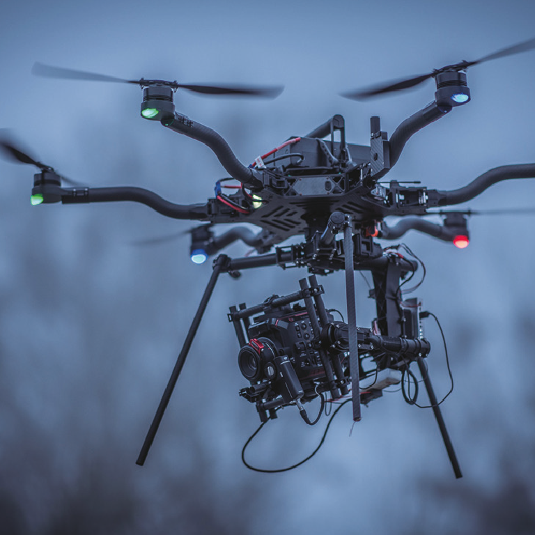 eva1 cinema camera on professional camera drone for video productions