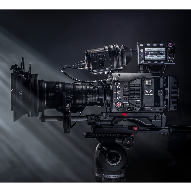 panasonic varicam lt camera on set with low light utilizing dual native iso camera technology feature