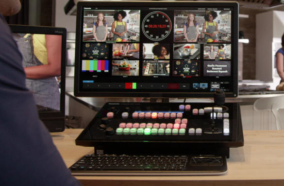 av-hlc100 live production streaming footage setup technical director