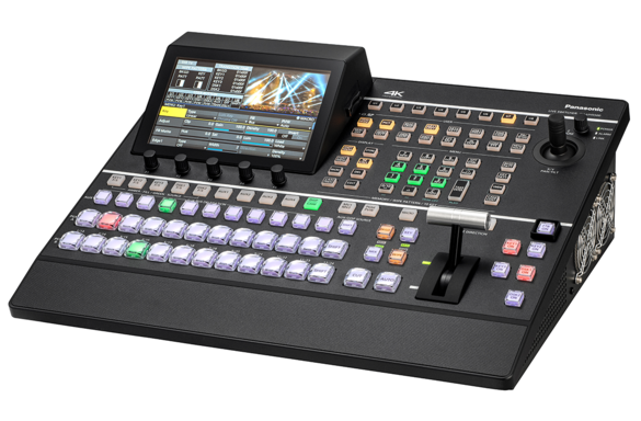 AV-UHS500 4K Switcher with 12G-SDI inputs and HDMI for live video production