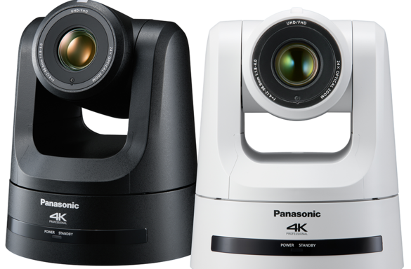 AW-UE100K and AW-UE100W Black & White Professional PTZ Camera Product Shot