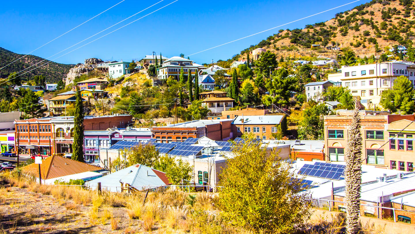 Buildings & Roof Tops Of Bisbee, Arizona