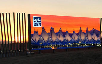Denver International Airport - Welcome Sign - thumbnail