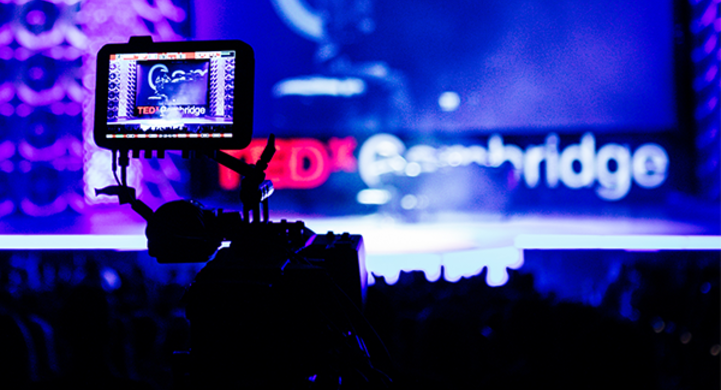 TedX Live Production Live 4K cinematic live projector IMAG production Cinelive varicam LT eva1 aw-ue150