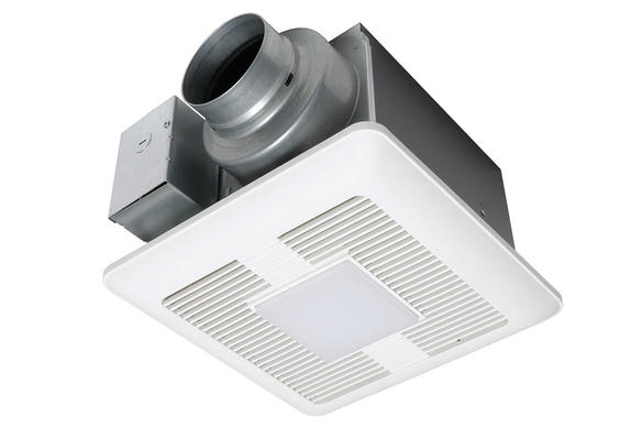 PANASONIC FV-0511VQL1 WHISPERCEILING DC FAN WITH LED LIGHT, PICK-A-FLOW SPEED SELECTOR 50, 80 OR 110 CFM WITH ECM MOTOR, <0.3, <0.3, 0.4 SONE, 10W LED CHIP PANEL, <1W LED NIGHT LIGHT, FLEX-Z FAST&#x99; INSTALLATION BRACKET, INTEGRATED DUAL 4