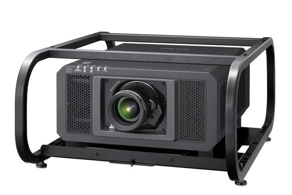 pt-rz12ku-large-venue-projector-with-et-pfd510-frame-angled