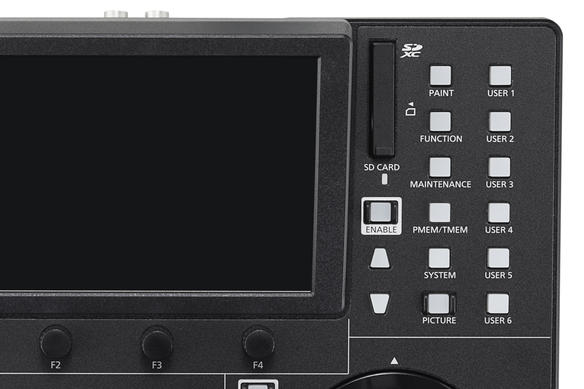 AW-RP150 Panasonic PTZ Remote Camera Controller RCC Product Image Top Right Controls