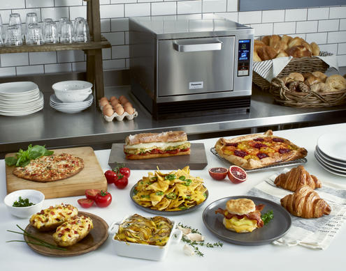 Panasonic High Speed Oven Shown with All Food that Can be Made