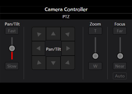 Panasonic PTZ Camera Controller Software for Pan Tilt Zoom Focus AF Robotic Camera Control Settings