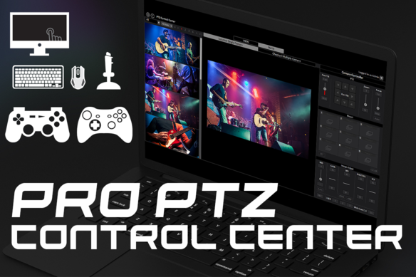Panasonic PTZ Control Center Software - Robotic Camera Control with keyboard shortcuts mouse joystick touchscreen gamepad playstation xbox controller