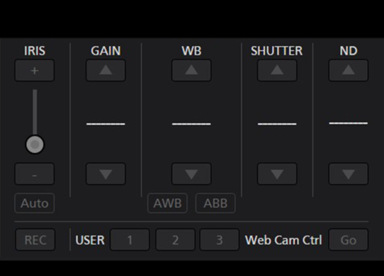 PTZ Camera Control Center Software for Iris Gain White Balance Shutter ND Filter Settings and Operation