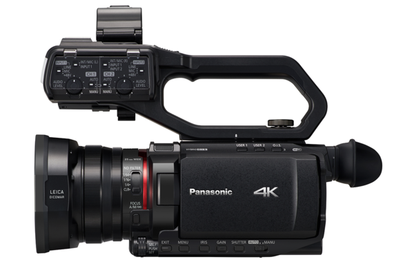 AG-CX10 4K camcorder with removable handle