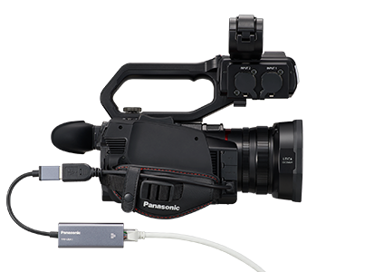 AG-CX10 NDI Tricaster compatible 4K camcorder