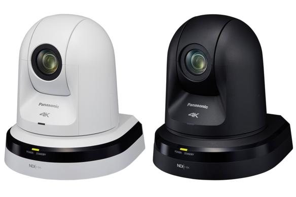 Panasonic AW-UN70W and AW-UN70K 4K NDI ptz camera with IP network and 3G-SDI video output