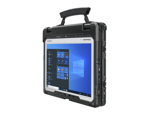 Panasonic TOUGHBOOK 33 fully rugged 2-in-1 computer in convertible carry mode