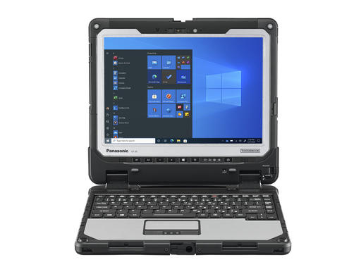 Front view of Panasonic TOUGHBOOK 33 fully rugged 2-in-1 computer