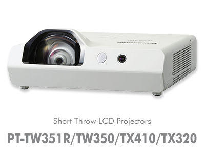 PT-TW350U 3,300 Lumens/WXGA/Short Throw Projector / PT-TW350