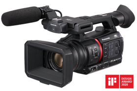 ag-cx350 camcorder with NDI capability and livestreaming camcorder features