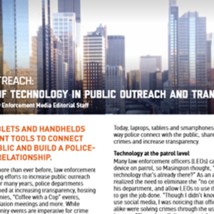 Law Enforcement Technology in Public Outreach