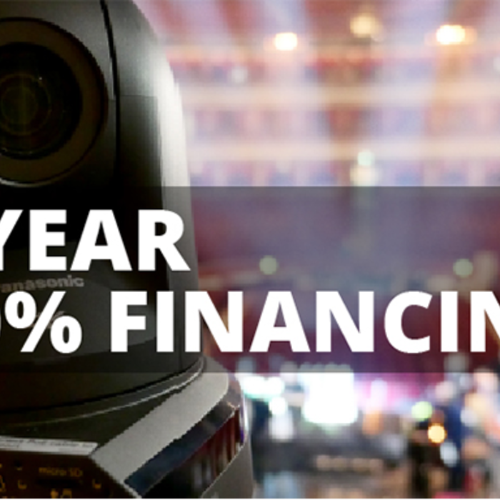 1 year 0% financing panasonic pro video cameras