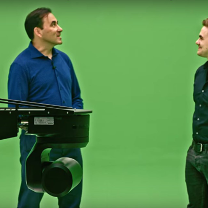 using a robotic camera with a green screen and virtual set
