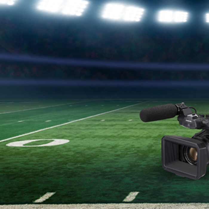 cx4000 cx350 jvc sports broadcast camera streaming NDI tricaster livestreaming camera handheld camcorder eng football first ndi camcorder ndi shoulder-mount camera for sports production