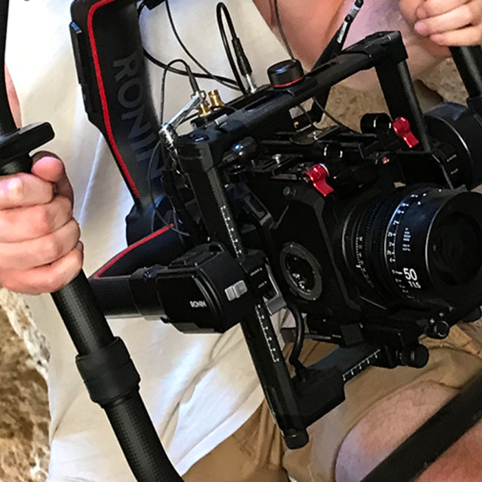 eva1 cinema camera on ronin pro video gear