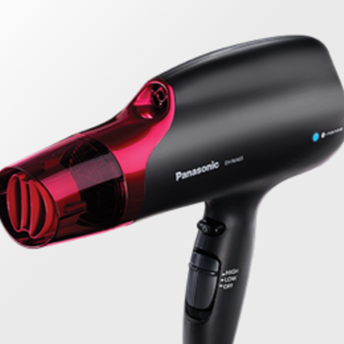 Picture of the EH-NA65-K hair dryer angled top right to bottom left.
