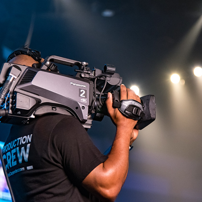 Esports Gaming Arena Camera Crew