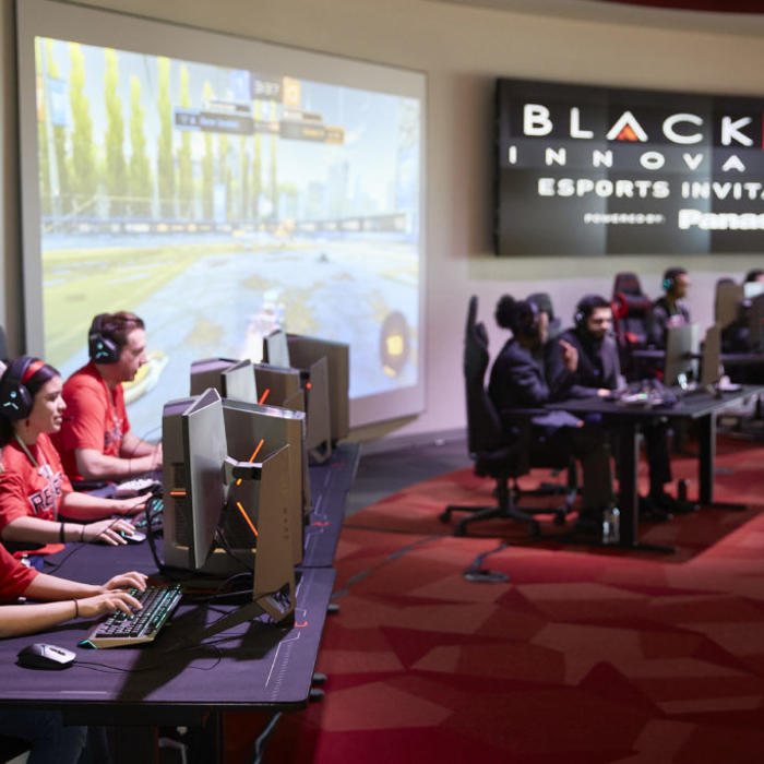 panasonic cameras for esports video streaming coverage at UNLV with black fire innovation