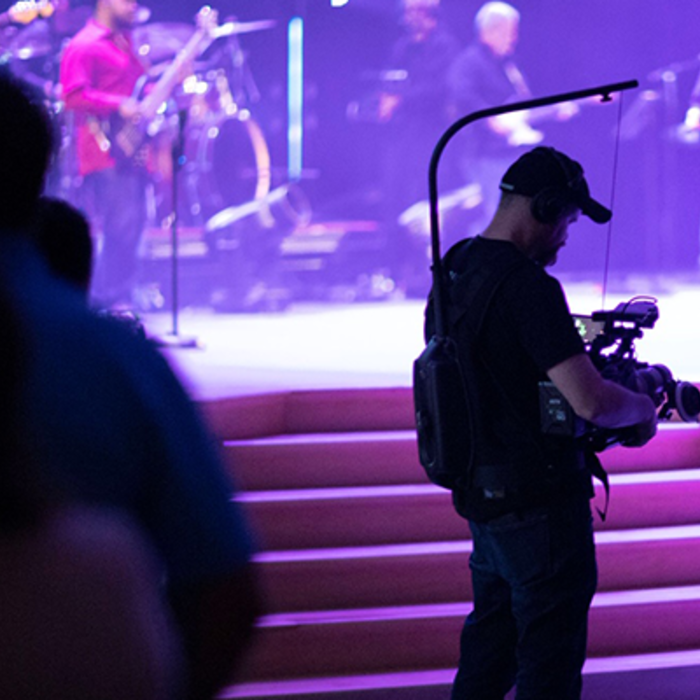Panasonic EVA1 Steadicam Live Video Production at Chase Oaks Church with EVA-LIVE